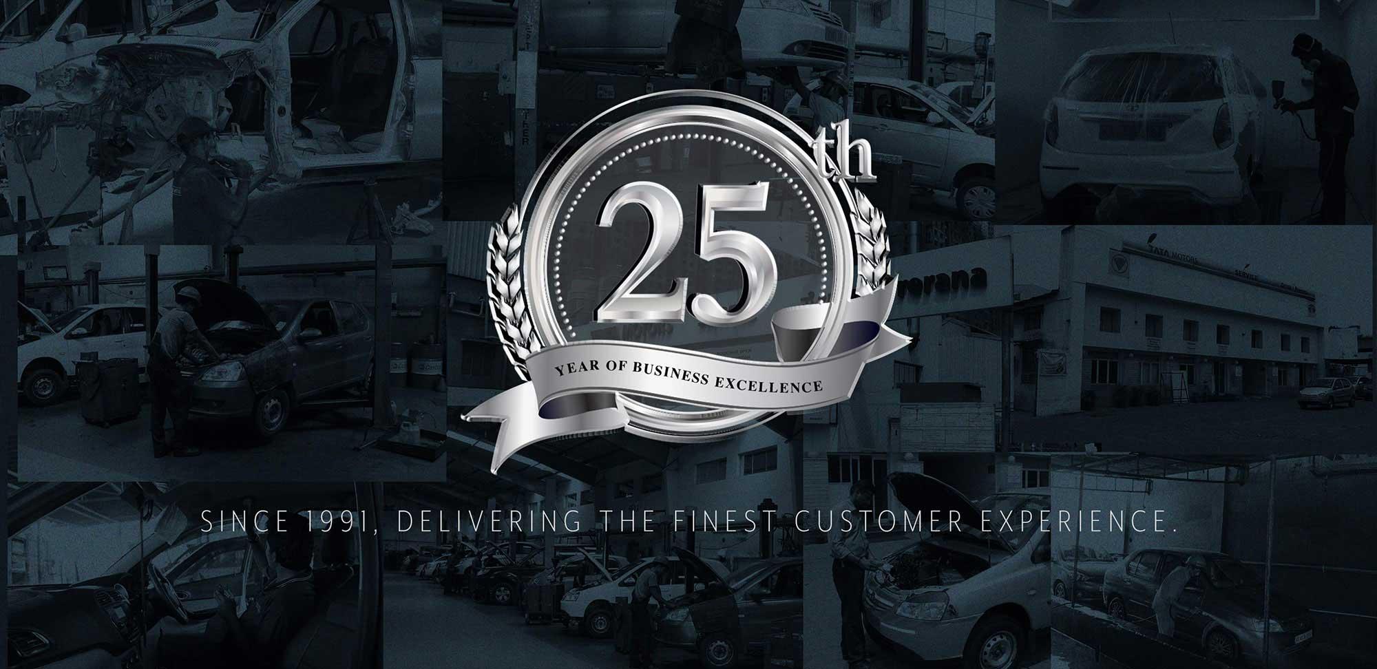 25 yrs banner